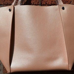 Neiman Marcus Bags - Neiman Marcus Rose Pink Vegan Leather Tote